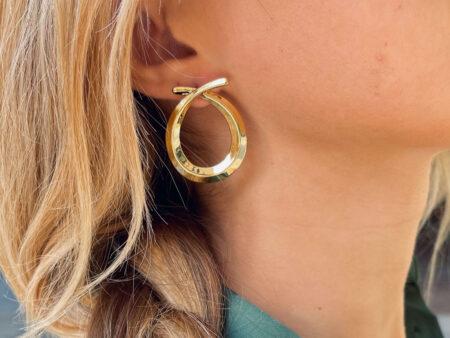 """Ατσάλινα σκουλαρίκια """"Combo Gold"""" σε χρυσό χρώμα"""
